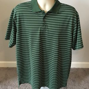 Gander Mountain Green Golf Polo Nylon Sz L